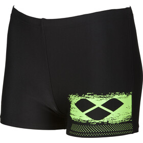 arena Scratchy Pantalones cortos Niños, black-shiny green